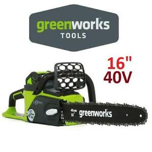NEW GREENWORKS 40V CHAINSAW 16 20312 234163857 BATTERY AND CHARGER INCLUDED CORDLESS G MAX DIGIPRO