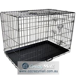 Metal Dog Cage Crate Collapsible Portable 24-48 Inch All Size Melbourne CBD Melbourne City Preview