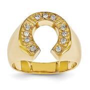 14k Horseshoe Ring