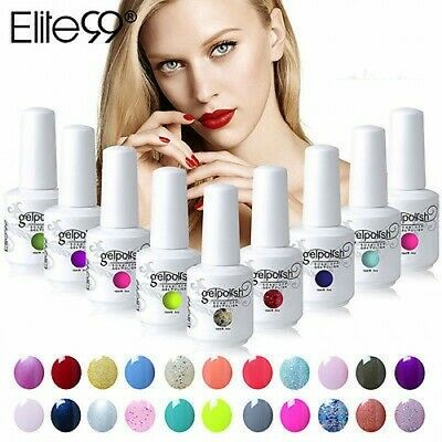 Elite99 UV LED Colors Gel Polish Nail Lacquer Varnish Soak Off Manicure 15ML