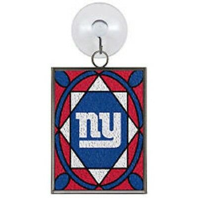 New York Giants Stained Glass Christmas Tree Ornament NEW Sun Catcher ()
