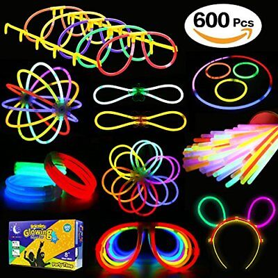 600Pcs Led Glow In The Dark Party Favors Pack 8