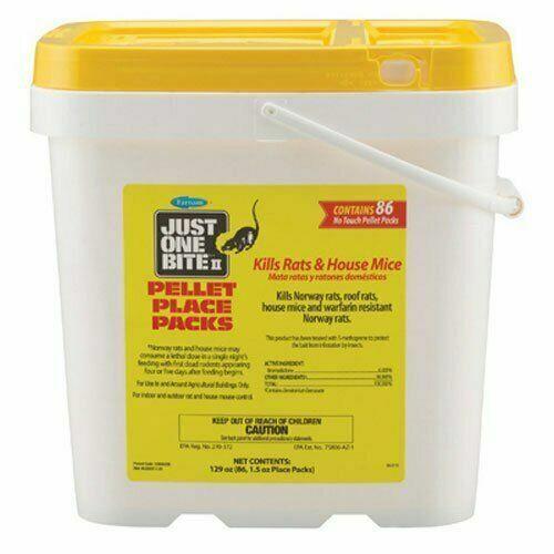 Farnam Just One Bite II 1.5-Ounce Pellet Packs, 86 Count Bucket 8 LBS Rat Mouse