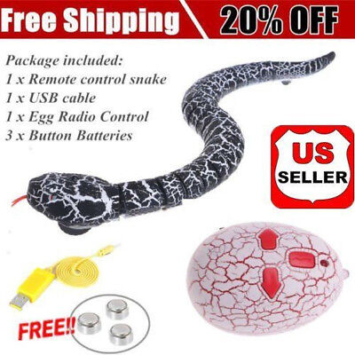 Remote Control Snake Rattlesnake Fun Joke Mischief Toy Terrifying Tricky Gifts