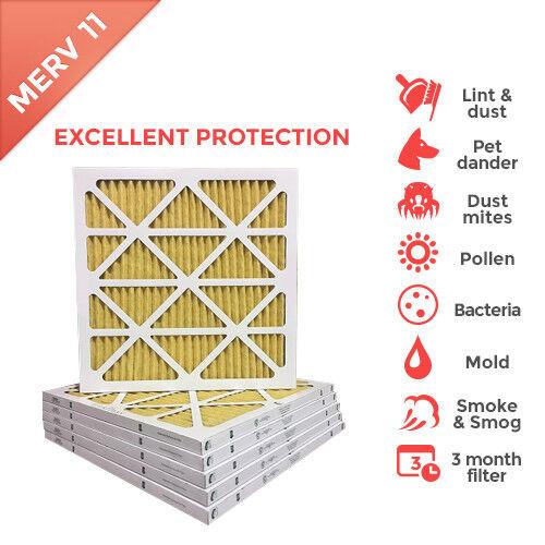 24x24x1 MERV 11 Pleated AC Furnace Air Filter. 6 PACK / $7.49 each