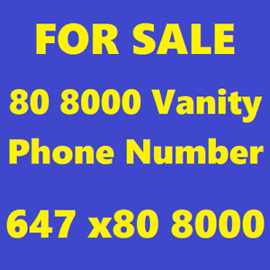 FOR SALE: 647.x80.8000 - A Clean 80.800 VIP/Vanity Phone Number