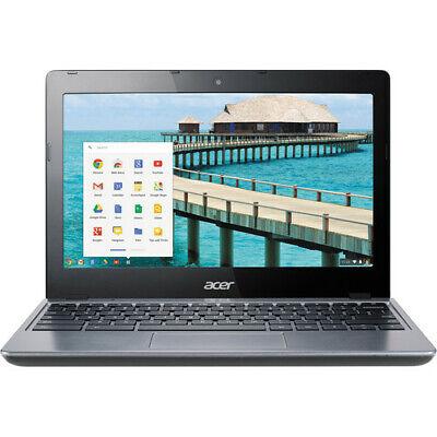 "Acer C720-2420 11.6"" Chromebook 2GB Ram, 32GB SSD, Intel Celeron 1.4GHz - Gray"