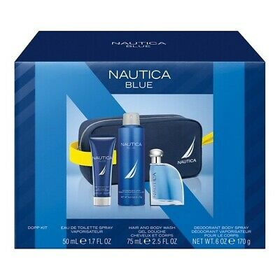 Nautica Blue Men's Eau de toilette 4-Piece Gift Set NEW WITH BOX