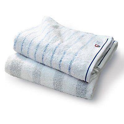 Bloom Imabari Towel Certified Natural Border Bath Towel Set of 2 pieces NEW