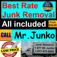 We haul away everything; best rates...