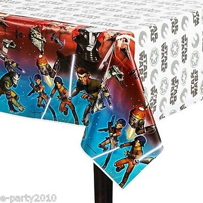 STAR WARS Rebels PLASTIC TABLE COVER ~ Birthday Party Supplies Decorations Cloth](Star Wars Table Decorations)