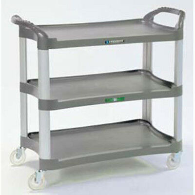 Three Shelf Plastic Utility Cart - 500 Lb. Capacity Light Gray