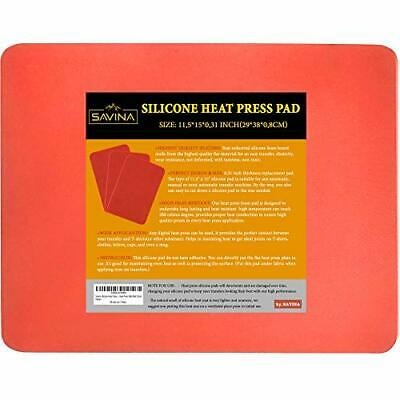 Savina Silicone Heat Press Pad - 15in x 11.5in x 0.3in - A Must for Plate Hea...