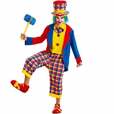 Creepy Clown Adult Men's Halloween Dress Up Theme Party Cosplay Costume - Halloween Party Costume Themes