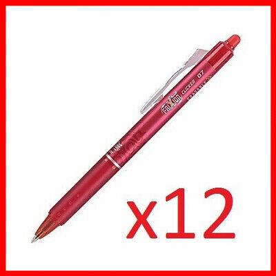Newpilot Frixion Ball Clicker 0.7 Retractable Erasable Ink Gel Pen 12ct Red