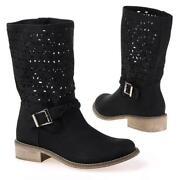 Damen Stiefel 39 Schwarz