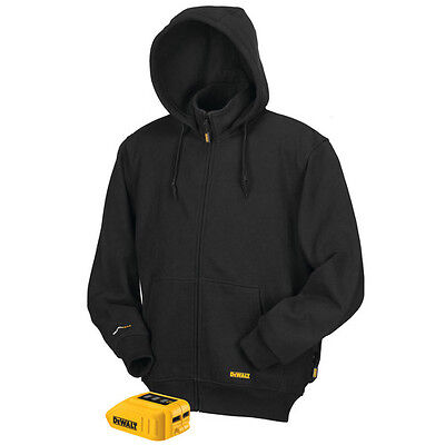 DEWALT 12V/20V MAX Li-Ion Black Heated Hoodie Only - L DCHJ067B-L New