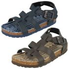 Brown Synthetic Sandals for Boys