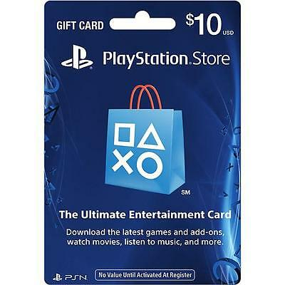 10 Us Playstation Network Store Psn Gift Card