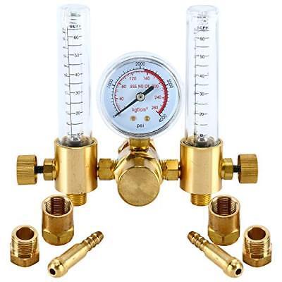 Dual Argon Co2 Mig Tig Flow Meter Regulator Welding Weld Double Backpurge Us