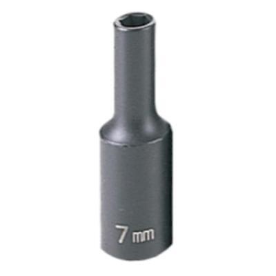 "Grey Pneumatic 1007MD 3/8"" Drive Deep Metric Impact Socket - 7mm"