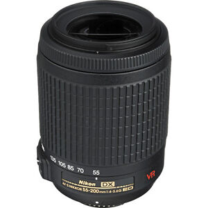 NEW Nikon 55-200mm VR DX AF-S Lens for D5000 D3100 D3000 D7000