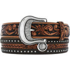 Justin Boots Leather Studded Belts for Men