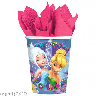 TINKER BELL Best Friend Fairies 9oz PAPER CUPS (8) ~ Birthday Party