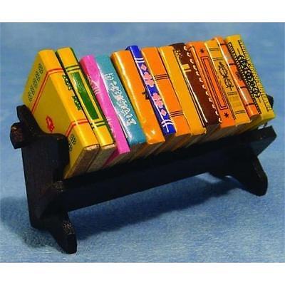 Bookshelf & Books in 1:12 scale for Dolls House D020
