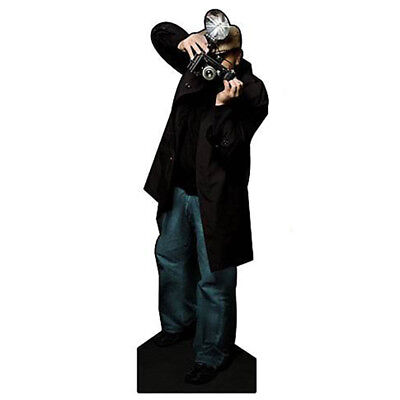 PAPARAZZI PHOTOGRAPHER with Flashing Strobe CARDBOARD CUTOUT Standee Standup F/S - Paparazzi Cut Out
