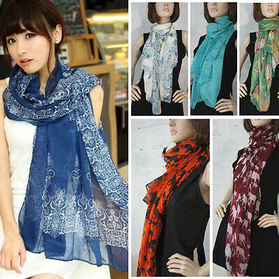 Best-Selling Fashion Scarf Women's Long Chiffon Wraps Shawl Stole Soft