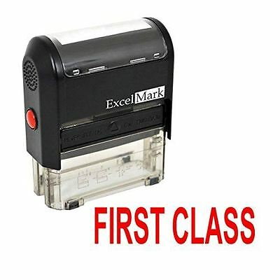 Excelmark First Class Self Inking Rubber Stamp A1539 Red Ink