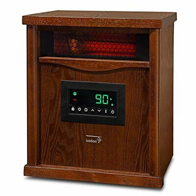 Ivation Portable Electric Space Heater, Watt 6-Element Infrared Quartz Mini Heat
