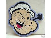 Popeye With Pipe Diecut King Features Vinyl Sticker #3