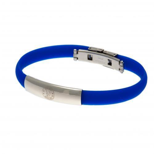 Official Licensed Football Product Chelsea Colour Silicone Bracelet Crest Gift