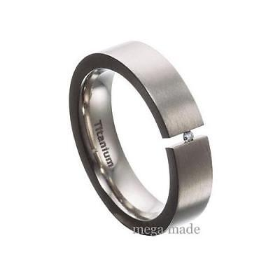 Titanium Diamond Ring Wedding Band Engagement Tension Set Fashion Jewerly Sz10