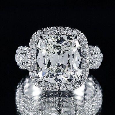3.26ct GIA 18K White Gold Cushion Diamond Engagement Ring I/VS1 (1186505643)