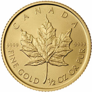 1/2 oz Pièce Or MRC Maple Leaf RCM Fine Gold Coin .9999