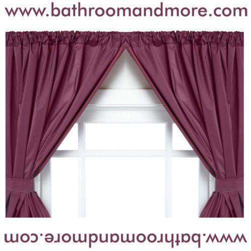 Vinyl Window Curtains For Bathrooms: Bathroom Window Curtains