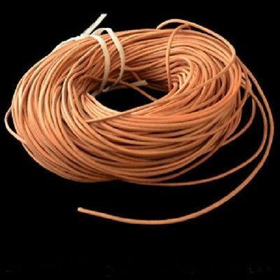 20 FEET VEG TANNED- ROUND LEATHER CORD- 3 mm- THICK- BIRD TOY PARTS -JEWELRY