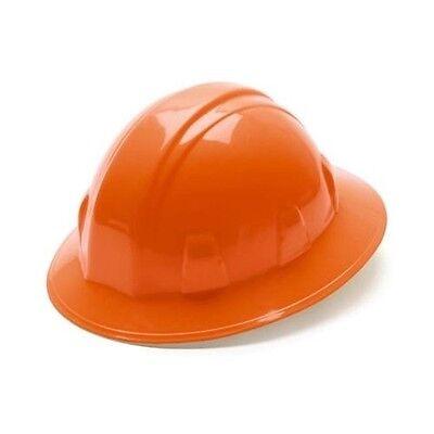 Pyramex Full Brim Hard Hat Orange Ratchet Suspension Safety Hp24140