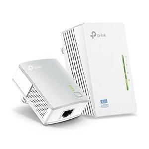 New TP-Link TL-WPA4220KIT ADVANCED 300Mbps Universal Wi-Fi Range Extender, Repeater, AV500 Powerline Edition, Wi-Fi Clon