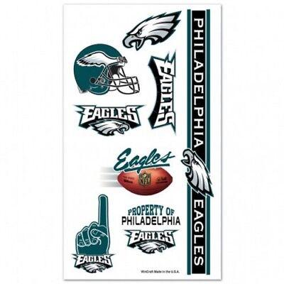 NFL Philadelphia Eagles Wincraft Temporary Tattoo Sheet NEW!
