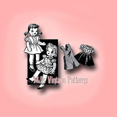 Vintage Pattern ~ Pair of Sister Dolls