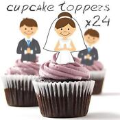 Edible Bride and Groom Cake Toppers