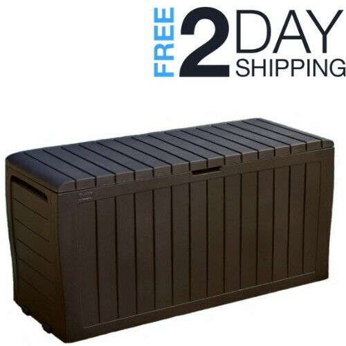 Patio Storage Deck Box Outdoor Waterproof Garden Storage Con