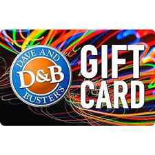 Buy a $50 Dave & Busters Gift Card for only $40  - Fast Email delivery