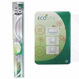 EcoSpa® PROFESSIONAL Shower Curtain Hanging Track Rail