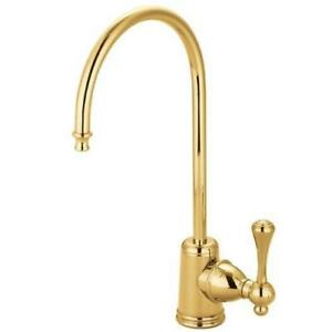 Kingston Brass Gourmetier KS7192BL Vintage Single Handle Water Filtration Faucet, Polished Brass NEW