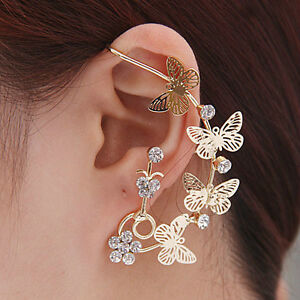Boucle d'oreilles cristal 18K G.P./  Cristals earrings